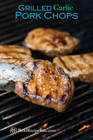 grilled pork chop recipe with garlic