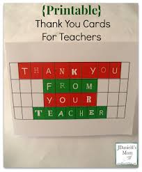 Printable Thank You Cards For Teachers Printable Thank You Cards For Teachers