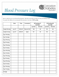 Blood Pressure Tracking Sheet Business Form Letter Template