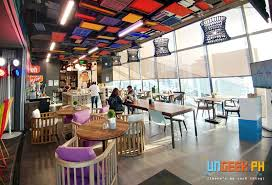 Google office cafeteria Outside Cafe Fiesta Ungeek Google Philippines Opens One Of The Coolest And Geekiest Offices In