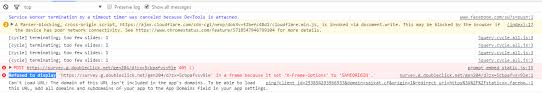 Refused to display 'url' in a frame because it set 'X-Frame-Options ...