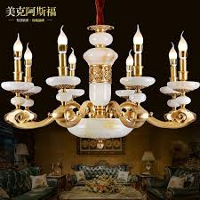 get ations new chinese luxury jade living room full copper chandelier chandelier study hall bedroom villa vintage french