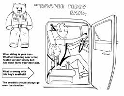 Small Picture State Police Road Safety Stranger Danger Coloring Pages Printable
