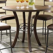 cameron round wood counter height table  rotmans  pub table