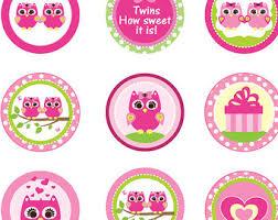 Pink Or Purple Girl Owl Baby Shower Cupcake Toppers Or FavorBaby Shower Owl Cake Toppers