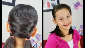 Pigtails Hair Style uneven pigtails hairstyles for short hair easy hairstyles 5169 by wearticles.com