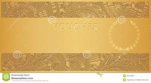 gold voucher gift certificate coupon ticket stock photography gold voucher gift certificate coupon ticket