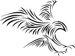 Vektorový Obrázek Kmenových Orlí Tattoo Veřejně Dostupné Vektory