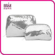 victoria s secret sparkling sequin cosmetic bag wristlet makeup case clutch purse