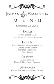 Wedding Menu Templates Perfect And Easy Menus For Your Big Day