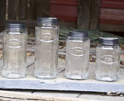glass vintage kitchen canister sets
