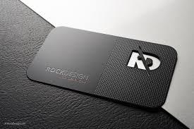 Professional Black Metal Business Card Template Rd Metal