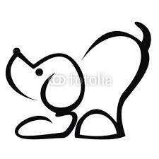 Obraz Pes černá Vektorové Ikony Obrys Pejska Jednoduchý Příklad