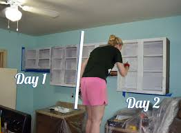 how to spray paint laminate furnitureKitchen Cabinet Paint How Kitchen Before And After Reveal