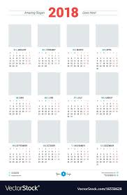 Indesign Calendar Template Inspiration Vector Abstract Calendar Design Template For Stock Vector Vector