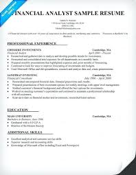 resume of financial analyst financial analyst resume sample example executive summary uwaterloo co