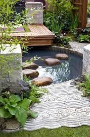 Small Picture plastic grid over pond Landscape Water Feature Pinterest
