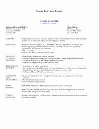 Functional Resume Sample Luxury Functional Resume Samples Free