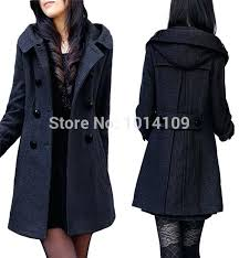 womens pea coat with hood in kind shooting hot long wool pea coats women middle womens pea coat with hood