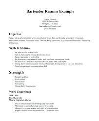 Resume Examples Server Server And Bartender Resume Server Bartender