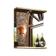 Mayford Lighting Mayford 650mm Oak Wall Hung Mirror