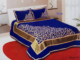 Buy Online imported bed sheets heavy velvet bed sheets pure cotton
