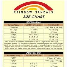 Mens Rainbows Size Chart Men S Large Premier Leather Sandals