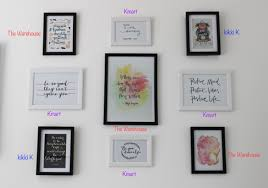 wall art home decor es prints the frames are either from kmart