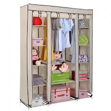 portable wardrobe closet 53quotx18quotx69quot portable closet storage organizer wardrobe clothes pics 15