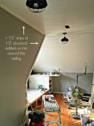 Plywood Plank Ceiling The Easiest Way To Cover A Popcorn Ceiling