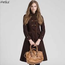 <b>ARTKA</b> Wool Coat Women's <b>Winter</b> Jackets 2018 Double Breasted ...