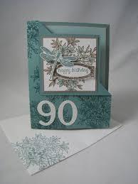 Folded Birthday Card Fun Corner Fold Birthday Card My Cards Stuff 90th