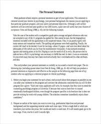 Examples Of Personal Statements 29 Examples Of Personal Statements Examples