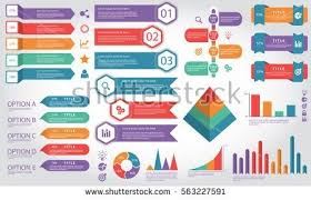 Info Graphic Elements Process Infographics Workflow Stock Vector in
