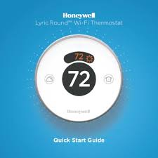 "69 0524 t827a heating thermostat the energy conscious honeywell lyric roundâ""¢ wi fi thermostat second generation rch9310wf"
