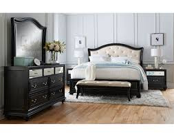 Leather Bedroom Suite The Marilyn Collection Ebony Value City Furniture