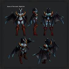 dota2 queen of pain blades of torment polycount