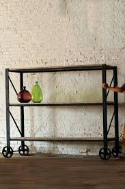 rustic shelving unit urban farmhouse designs giant rustic iron and wood rolling shelving unit rustic wooden