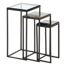 small accent table home furnishings knight small accent tables with dark natural iron finish in gray