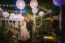 outdoor lighting ideas for parties. Stunning White Balloon And String Hanging Lights For Outdoor Wedding Party Decoration In Using Garden Concept Lighting Ideas Parties
