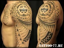 мужская полинезийская тату на плече и груди фото татуировок