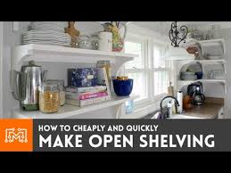 open shelving for your kitchen how to