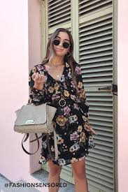 Abound Size Chart Love Abound Black Floral Print Long Sleeve Dress