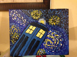 first tardis painting created at painting with a twist noticed my tardis has a unibrow cannot unsee