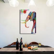 cartoon elephant picture frameless modern abstract canvas oil painting wall decoration on modern abstract art oil painting wall decor canvas with cartoon elephant picture frameless modern abstract canvas oil