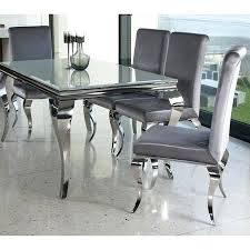 large white dining table white dining table set with 4 silver velvet chairs by living view large white dining table