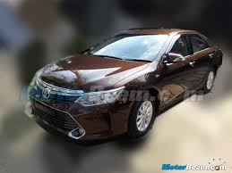 new car launches may 20152015 Toyota Camry facelift spied in India launch in May