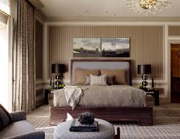 Trendy carpeted and brown floor bedroom photo in San Francisco with  multicolored walls
