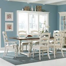 Hillsdale Dining Table Hillsdale Pine Island 7 Piece Trestle Dining Table Set With Ladder