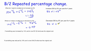 gcse core maths skills revision b 2 repeated percentage change and compound interest you